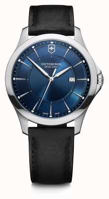 Victorinox Swiss Army | Alliance | Men's | Black Leather Strap | Blue Dial 241906
