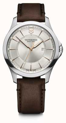 Victorinox Swiss Army | Alliance | Men's | Brown Leather Strap | Silver Dial 241907