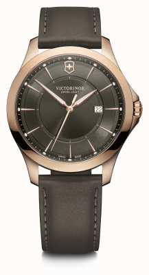 Victorinox Swiss Army | Alliance | Men's | Grey Leather Strap | Grey Dial | 241908