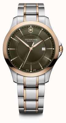Victorinox Swiss Army | Alliance | Men's | Two-Tone Steel Bracelet | Green Dial 241913