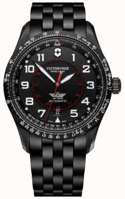 Victorinox Swiss Army | Airboss Mechanical | Men's | Black PVD Bracelet | Black Dial 241974