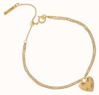 Olivia Burton Classic Heart Gold Bracelet OBJSAB17