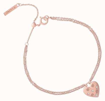 Olivia Burton Classic Heart Rose Gold Bracelet OBJSAB18