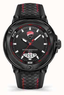 Ducati DT001 | Black Dial | Black Silicone Strap DTWGN2018903