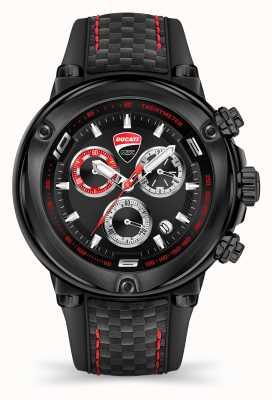 Ducati DT001 | Chronograph | Black Dial | Black Silicone Strap DTWGO2018804