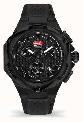 Ducati DT002 | Chronograph | Black Dial | Black Leather Strap DTWGC2019003