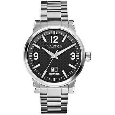 Nautica Men's NCT600 Black Dial Dress Watch A18595G