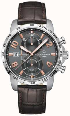 Certina DS Podium | Automatic | Brown Leather Strap | Grey Dial C0344271608701