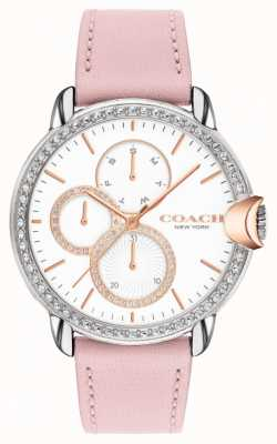 Coach Women's Arden | Pink Leather Strap | White Dial 14503747