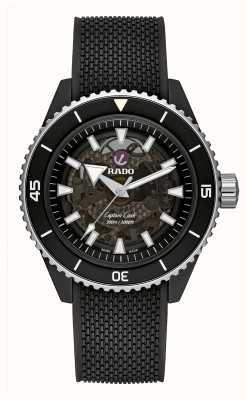 RADO Captain Cook High-Tech Ceramic Black Rubber R32127156