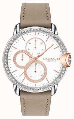 Coach Women's Arden | Stone Calfskin Strap | White Crystal Dial 14503733