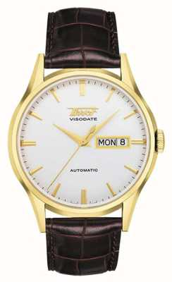 Tissot Men's Heritage Visodate Automatic | Brown Leather Strap T0194303603101