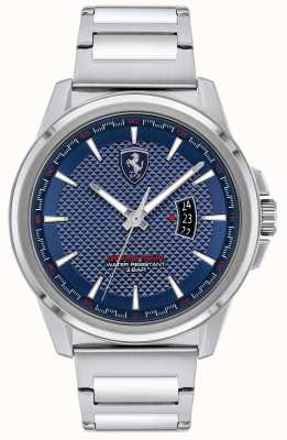 Scuderia Ferrari Men's Grand Tour | Stainless Steel Bracelet | Blue Dial 0830835