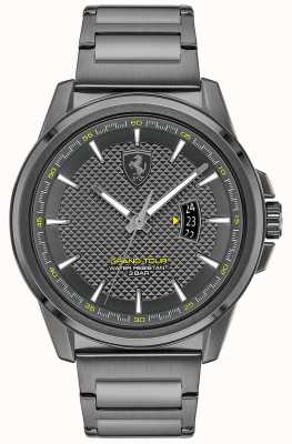 Scuderia Ferrari Men's Grand Tour | Grey IP Steel Bracelet | Grey Dial 0830836