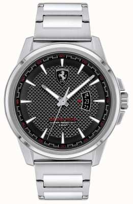 Scuderia Ferrari Men's Grand Tour | Stainless Steel Bracelet | Black Dial 0830834