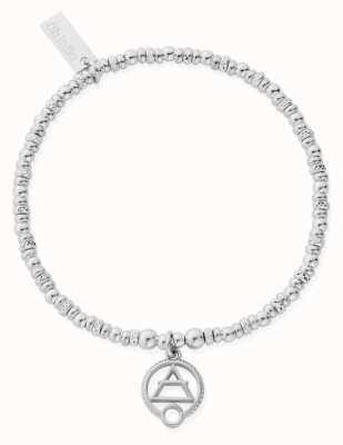 ChloBo Sparkle Disc Air Bracelet | Sterling Silver SBSD3108
