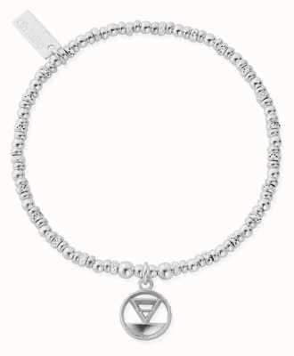 ChloBo Sparkle Disc Earth Bracelet | Sterling Silver SBSD3112