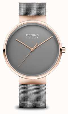 Bering Men's Solar Watch Rose Gold/Grey 14339-369