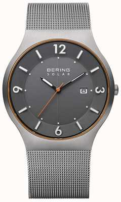 Bering Solar | Men's | Grey Steel Mesh Bracelet 14440-073-A