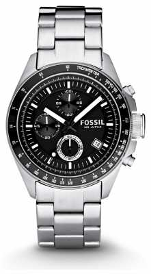 Fossil Mens Silver Chronograph Fashion Watch CH2600