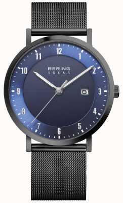 Bering Solar Men's Black Mesh Bracelet Date Watch 15439-327