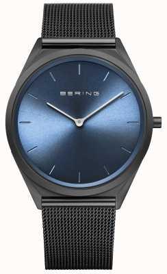 Bering Men's Ultra Slim Black Milanese Mesh Watch 17039-227