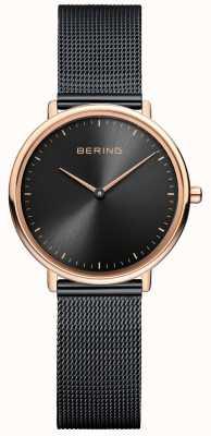 Bering Women's Classic Black Mesh Watch 15729-166