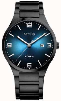Bering Men's Black Plated Titanium Watch 15240-727