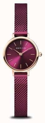 Bering Classic | Women's | Polished Rose Gold | Purple Mesh 11022-969