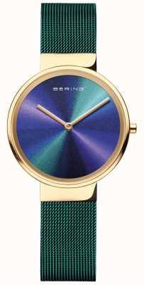 Bering Classic | Women's | Green Mesh | Multi-Coloured dial 19031-828