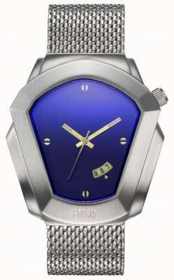 STORM Cyrex Lazer Blue | Silver Steel Mesh Bracelet | Blue Dial 47488/LB