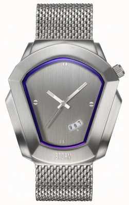 STORM | Cyrex Silver | Silver Steel Mesh Bracelet | Silver Dial | 47488/S