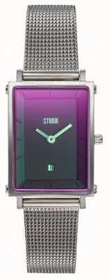 STORM Issimo Lazer Purple | Silver Steel Mesh Bracelet 47489/P