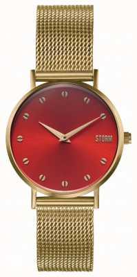 STORM Neoxa Mesh Gold Red | Gold Steel Mesh Bracelet 47492/GD