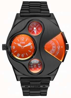 STORM V2 Navigator Slate Red | Slate Black Steel Bracelet 47246/SL/R