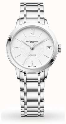 Baume & Mercier Classima | Automatic | White Dial | Stainless Steel Bracelet M0A10267