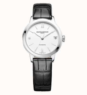 Baume & Mercier Classima Black Leather Strap Watch M0A10313