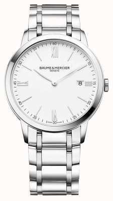 Baume & Mercier Classima Men's White Dial Stainless Steel Bracelet M0A10354