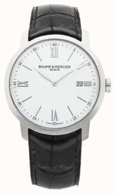 Baume & Mercier Classima | White Dial | Black Leather Strap M0A10414