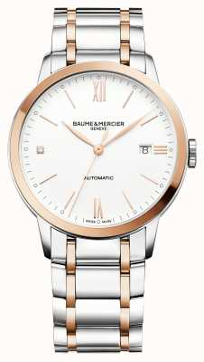 Baume & Mercier Classima Rose-Gold and Silver Watch M0A10456