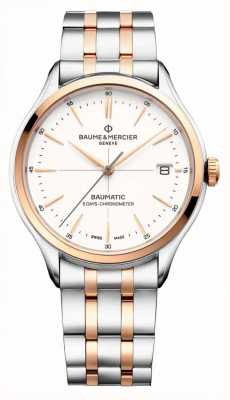 Baume & Mercier Clifton | Baumatic | White Dial | Two Tone Stainless Steel M0A10458