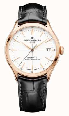 Baume & Mercier Clifton Baumatic Black Leather Strap Watch M0A10469