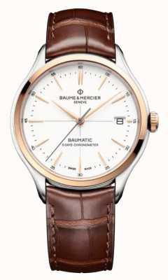 Baume & Mercier Clifton Baumatic Brown Leather Strap Watch M0A10519