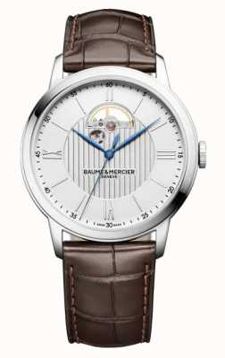 Baume & Mercier Classima Brown Leather Silver Dial Automatic M0A10524