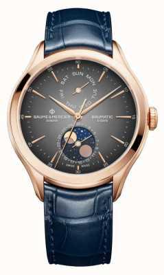 Baume & Mercier Clifton Baumatic Blue Leather Strap M0A10547