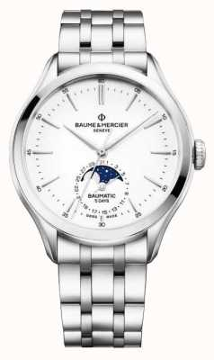 Baume & Mercier Clifton Baumatic Moonphase Display Steel Watch M0A10552