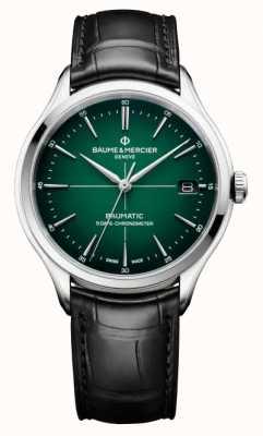 Baume & Mercier Men's Clifton Baumatic COSC Green Dial Watch M0A10592