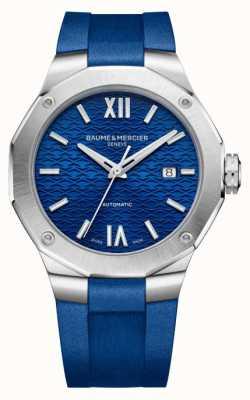 Baume & Mercier Riviera Blue Rubber Strap Watch M0A10619