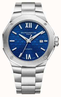 Baume & Mercier Men's Riviera Blue Dial Stainless Steel Bracelet M0A10620