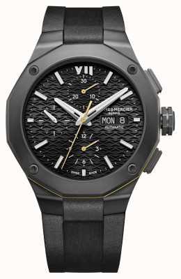 Baume & Mercier Riviera | Automatic | Chronograph | Black Dial | Black Silicone Strap M0A10625
